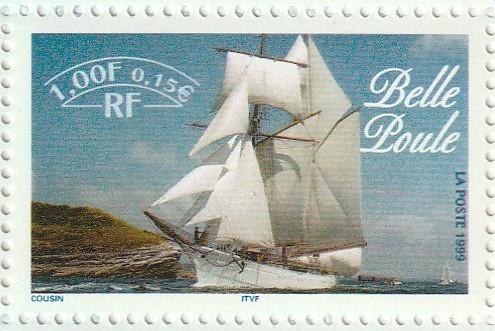 Sailing Boat Olive Wood Stamp
